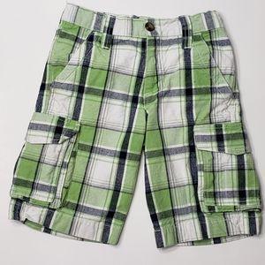 Crazy 8 plaid cargo shorts